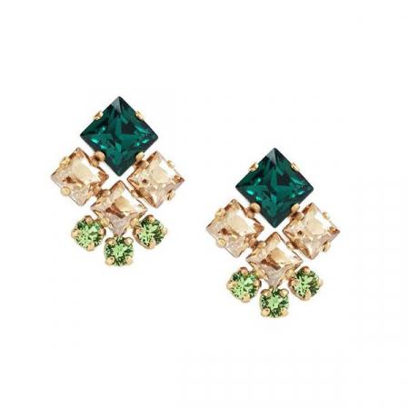 Cercei cristale Swarovski Norma Emerald G0