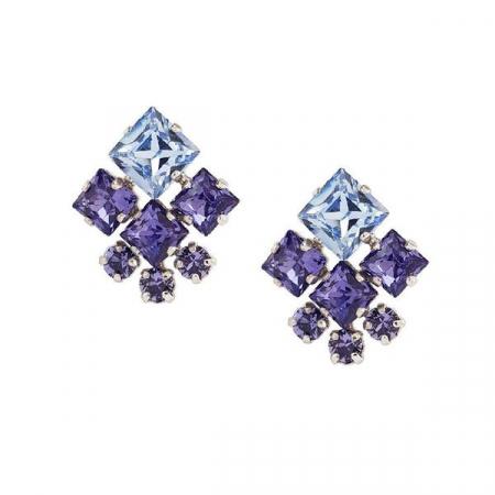 Cercei cristale Swarovski Norma Violet0