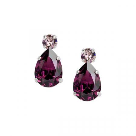 Cercei cristale Swarovski Petra 3 Amethyst0