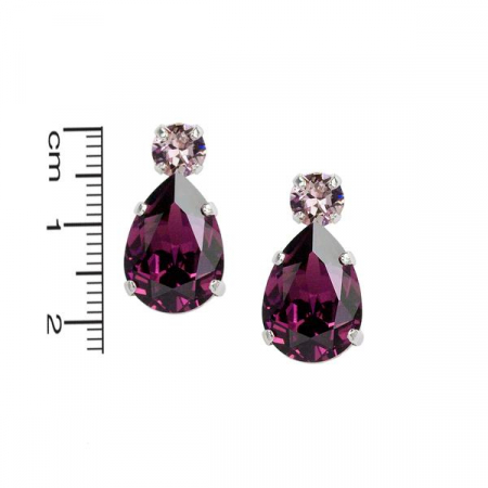 Cercei cristale Swarovski Petra 3 Amethyst1