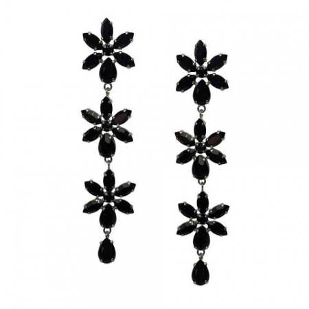 Cercei cristale Swarovski Purity Black0