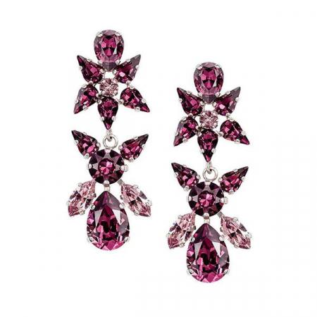 Cercei cristale Swarovski Sparkly L Amethyst0