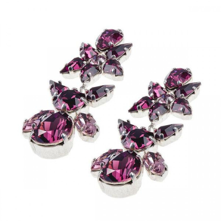Cercei cristale Swarovski Sparkly L Amethyst2