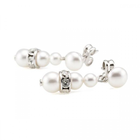 Cercei perle Swarovski 3245 White Pearl0