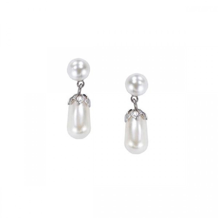 Cercei perle Swarovski 3262 White Pearl [0]