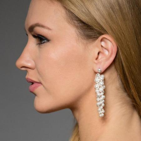 Cercei perle Swarovski Bryani White Pearl [2]