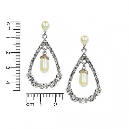 Cercei perle Swarovski Infinity Pearl [2]