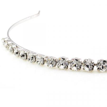 Diadema mireasa cristale Swarovski 8006 Crystal1
