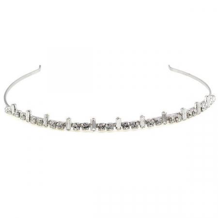 Diadema mireasa cristale Swarovski 8031 Crystal0