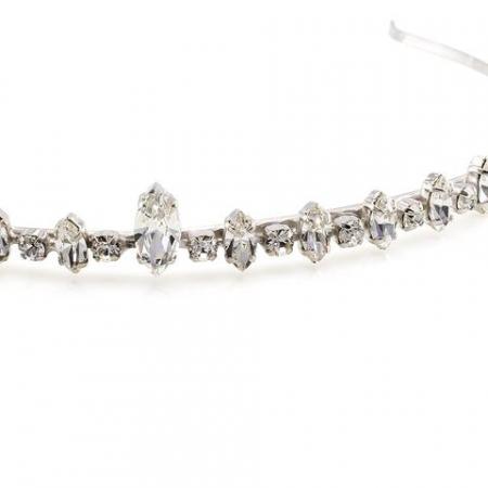 Diadema mireasa cristale Swarovski 8079 Crystal1