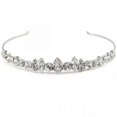 Diadema mireasa cristale Swarovski 8147 Crystal0