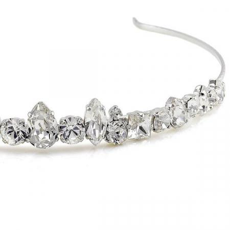 Diadema mireasa cristale Swarovski 8147 Crystal1
