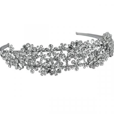 Diadema mireasa cristale Swarovski 8231 Crystal0