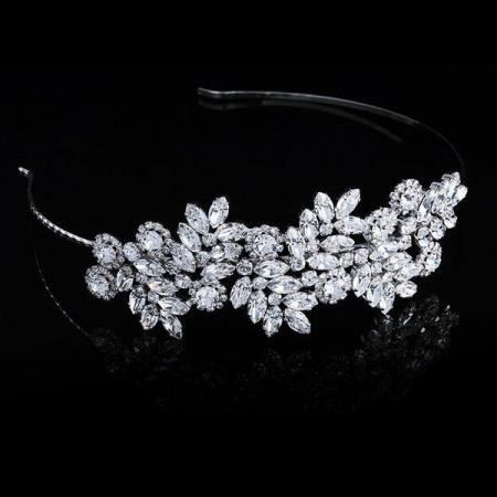 Diadema mireasa cristale Swarovski Adele 8 Crystal1