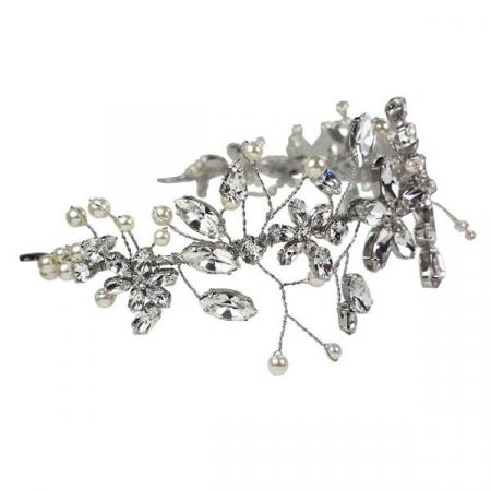 Diadema mireasa cristale Swarovski Cherry Flower Crystal1