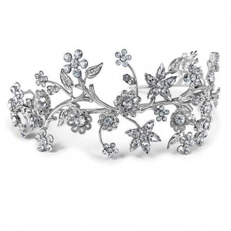 Diadema mireasa cristale Swarovski Primavera Crystal0