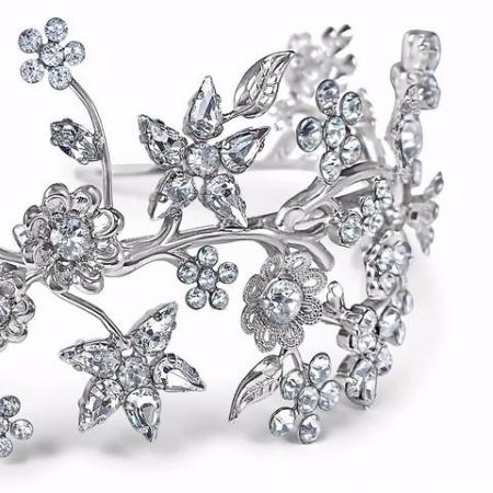 Diadema mireasa cristale Swarovski Primavera Crystal1