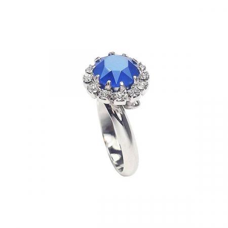 Inel cristale Swarovski Corinne Royal Blue0