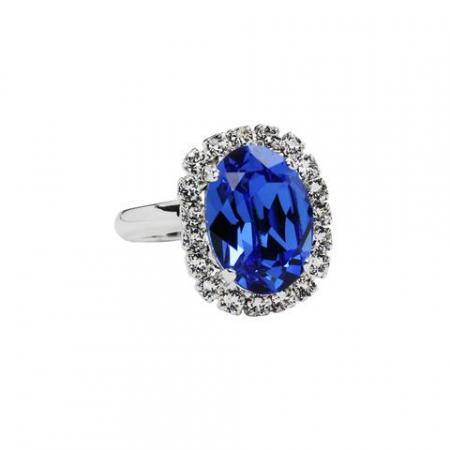 Inel cristale Swarovski Vivian 7 Saphire0