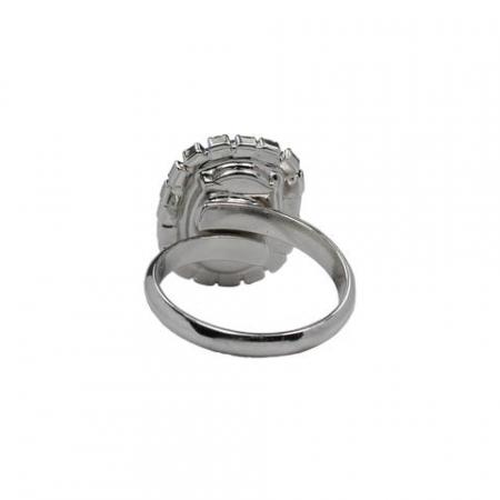 Inel cristale Swarovski Vivian 7 Saphire2