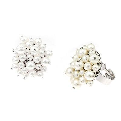 Inel perle Swarovski Flower 7 Pearl0