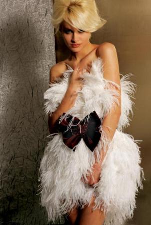 Rochie Jovani 155539 alba scurta de lux baby doll din fulgi1