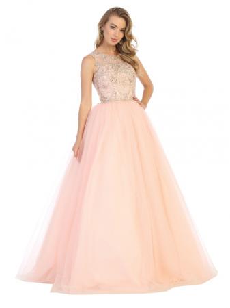 Rochie France Mode M137 roz lunga de seara princess0