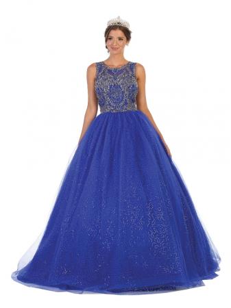 Rochie France Mode M137 albastra lunga de seara princess [0]