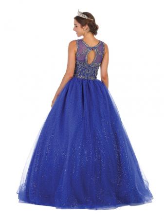 Rochie France Mode M137 albastra lunga de seara princess [1]