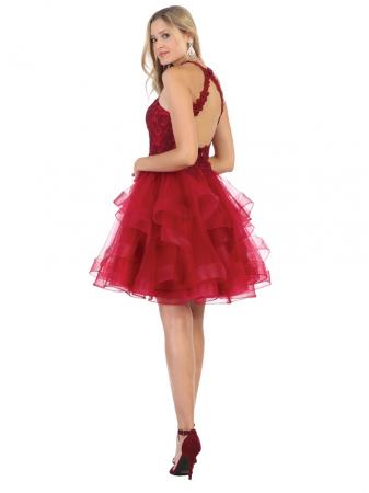 Rochie France Mode M1700 rosie scurta de ocazie baby doll1