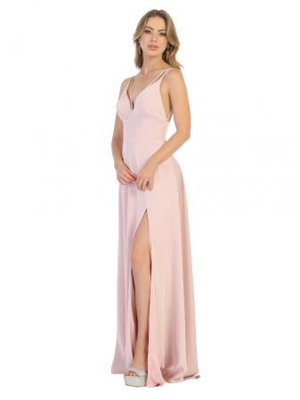 Rochie France Mode M1704 roz lunga de seara clos1
