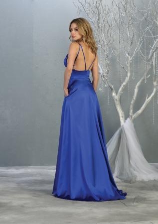 Rochie France Mode M1705 albastra lunga de seara clos [1]
