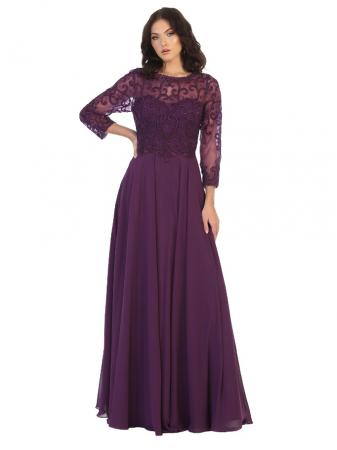 Rochie France Mode M1706 violet lunga de seara clos [0]