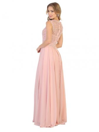 Rochie France Mode M1707 roz lunga de seara clos1