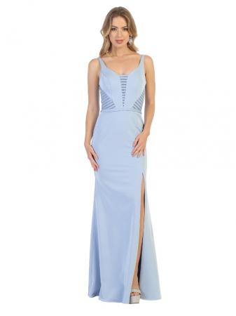 Rochie France Mode M1708 bleu lunga de seara mulata0