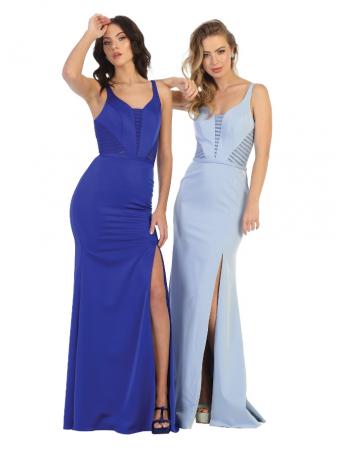 Rochie France Mode M1708 bleu lunga de seara mulata [2]