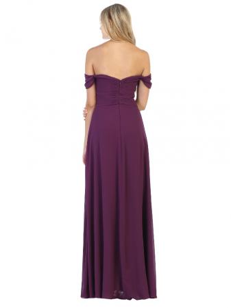 Rochie France Mode M1711 violet lunga de seara clos1