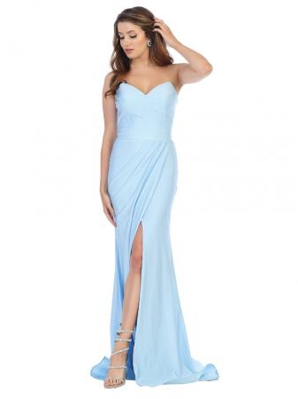 Rochie France Mode M1718 bleu lunga de seara mulata0