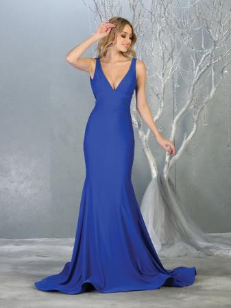Rochie France Mode M1719 albastra lunga de seara sirena0