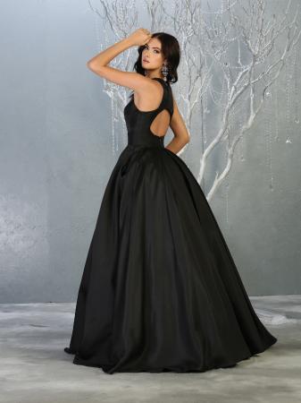 Rochie France Mode M1721 neagra lunga de seara princess [2]
