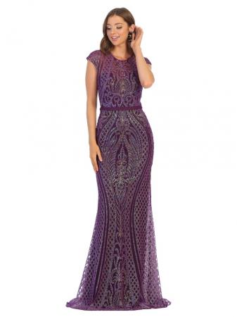 Rochie France Mode M1722 violet lunga de seara mulata0