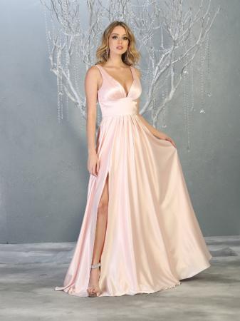 Rochie France Mode M1723 roz lunga de seara clos1