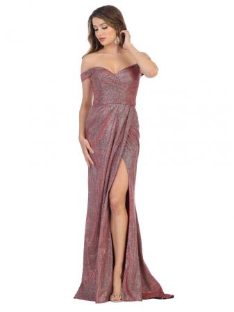 Rochie France Mode M1724 rosie lunga de seara mulata0