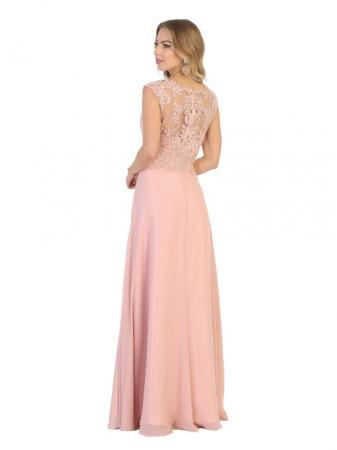 Rochie France Mode M1725 roz lunga de seara clos1