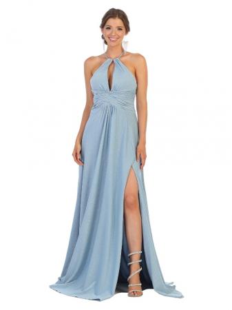 Rochie France Mode M1729 bleu lunga de seara clos0