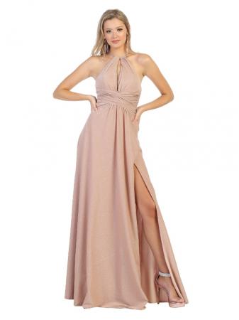 Rochie France Mode M1729 roz lunga de seara clos0