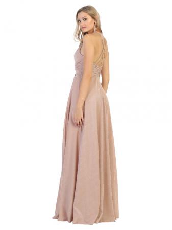 Rochie France Mode M1729 roz lunga de seara clos1