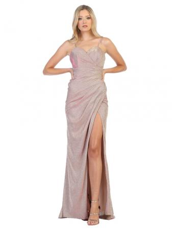 Rochie France Mode M1730 roz lunga de seara mulata0