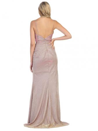 Rochie France Mode M1730 roz lunga de seara mulata1
