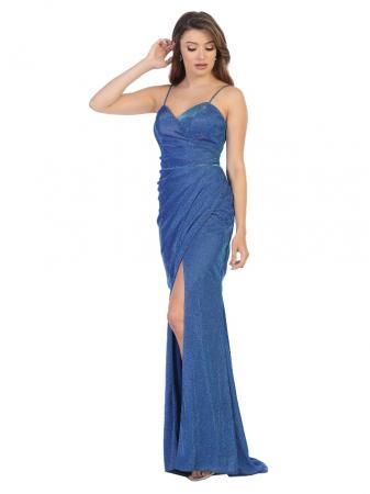 Rochie France Mode M1730 albastra lunga de seara mulata0